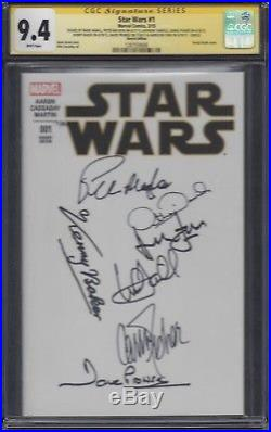 Star Wars #1 blank variant CGC 9.4 SS Signed by Ford, Hamill, Fisher, Baker, +3