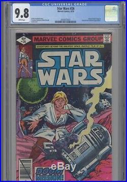 Star Wars #26 CGC 9.8 1979 Marvel Baron Orman, Gen. Dodoma App New Frame