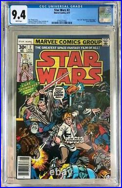Star Wars #2 (1977) CGC 9.4 - White pages Part 2 of A New Hope adaptation