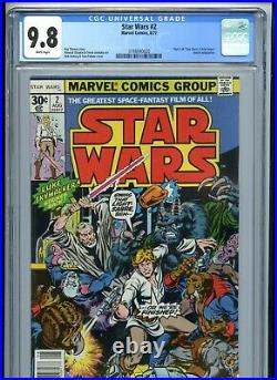 Star Wars #2 CGC 9.8 White Pages Newsstand