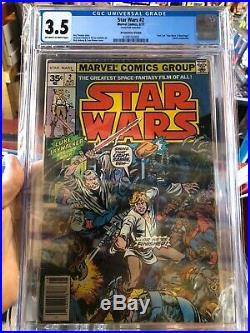 Star Wars #2 Cgc 3.5 Rare 35 Cent Variant 1977 Marvel Comics