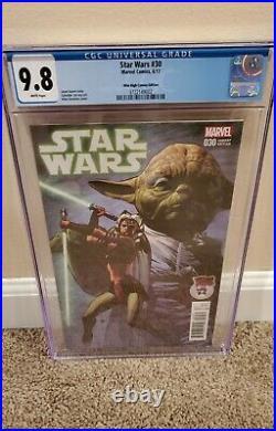 Star Wars 30 Mile High Comics Variant cgc 9.8 VHTF Ahsoka Tano on Marvel cover