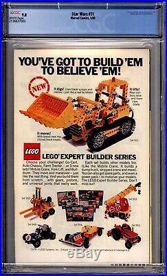 Star Wars 31 CGC Graded 9.8 NM/MT Marvel Comics 1980