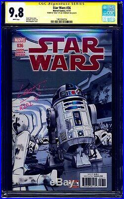 Star Wars #36 CGC SS 9.8 signed Lee Towersey R2D2 Builder Engineer NM/MT