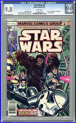 Star Wars #3 1st Printing CGC 9.8 1977 1258087010