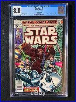 Star Wars #3 CGC 8.0 (1977) 35 Cent Price Variant