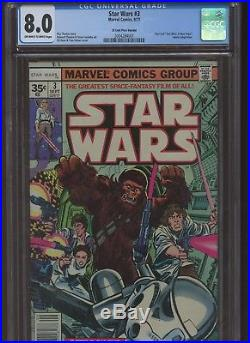 Star Wars 3 CGC 8.0 Marvel 1977 35 Cent Price Variant, A New Hope, Solo