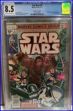 Star Wars #3 CGC 8.5 35 Cent Price Variant Very Rare 1977 NO Reserve