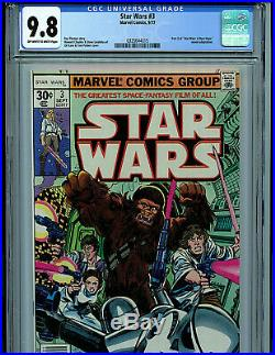 Star Wars #3 CGC 9.8 NM/MT 1978 Leia's Rescue Marvel Comic K4 Amricons