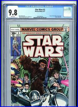 Star Wars #3 CGC 9.8 White Pages Marvel 1977 1st Print