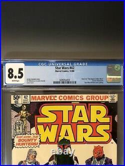 Star Wars #42 (1980) CGC 8.5 VF+ 1st Appearance BOBA FETT Mandalorian Disney