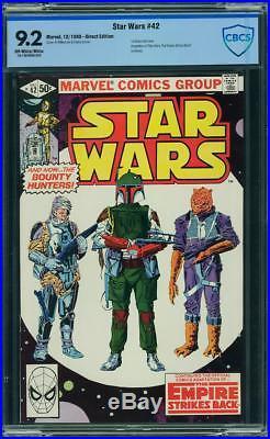 Star Wars #42 CBCS 9.2 NM- Marvel 1980 1st Appearance Boba Fett! Not CGC