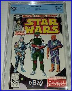 Star Wars #42 CBCS 9.2 NM- (same as CGC) White Marvel 1980 1st Boba Fett Cover