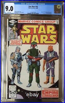 Star Wars #42 CGC 9.0 White Pages Boba Fett 1st Appearance Mandalorian