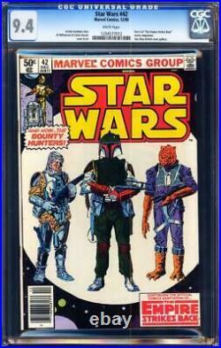 Star Wars #42 CGC 9.4 1st appearance of Boba Fett in The Mandalorian Tv series