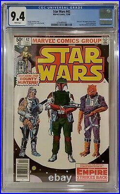 Star Wars #42 CGC 9.4 NEWSTAND 1st Boba Fett BOOK of BOBA