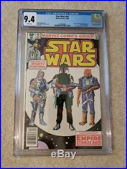 Star Wars 42 CGC 9.4 freshly graded Marvel Comics 1st Boba Fett