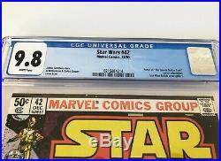 Star Wars 42 CGC 9.8 1980 1st Boba Fett COVER Marvel Comics
