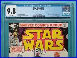 Star Wars #42 CGC 9.8 1st Appearance Boba Fett / Yoda 1st Print Marvel