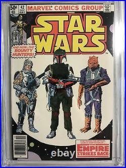 Star Wars #42 CGC 9.8 High Grade 1st Boba Fett White Pages Nice Clean Copy