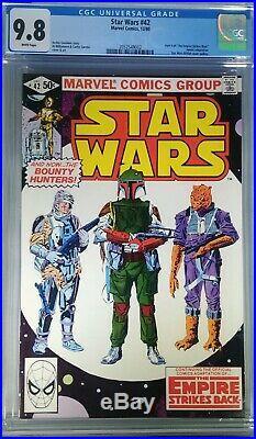 Star Wars 42 CGC 9.8 White Pages. 1st App. Of Boba Fett. Disney Mandalorian