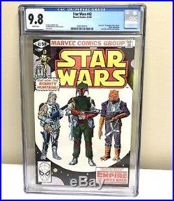 Star Wars #42 CGC 9.8 White Pages Bounty Hunters Boba Fett