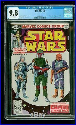 Star Wars 42 CGC 9.8 white Boba Fett Mandalorian