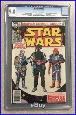 Star Wars #42 Cgc 9.0 Marvel Comics Bronze Age Vf/nm