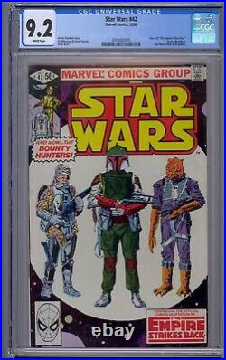 Star Wars #42 Cgc 9.2 Boba Fett White Pages