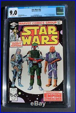 Star Wars #42 Empire 1st BOBA FETT Lando YODA Williamson 1980 MOVIE CGC VFNM 9.0