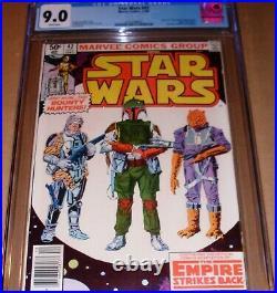 Star Wars #42 Newsstand Variant CGC 9.0 Marvel 1st Boba Fett Mandalorian Disney+
