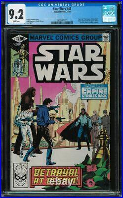 Star Wars #43 CGC 9.2 White 1981 1st Lando Empire Strikes Back Boba Fett app