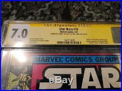 Star Wars 43 Cgc 7.0 Ss Signed & Lando By, Lando Himself, Billy Dee Williams