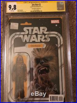 Star Wars #4 (2015) JTC Action Variant- CGC SS 9.8 Peter Mayhew