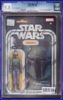 Star Wars 4 Boba Fett Action Figure Variant John Tyler Christopher CGC 9.8