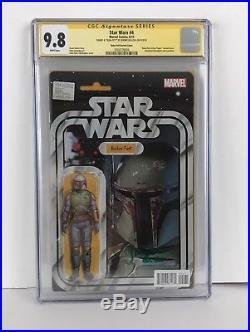 Star Wars #4 Boba Fett John Tyler Christopher Variant 9.8 Cgc Ss Jeremy Bulloch