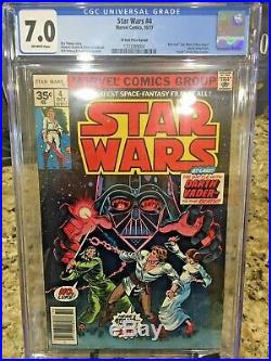 Star Wars #4 CGC 7.0 VF 35 cent price variant. 35 Marvel 1977 Off-White