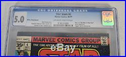 Star Wars 4 Marvel 1977 CGC 5.0 35 Cent Variant 1st Print