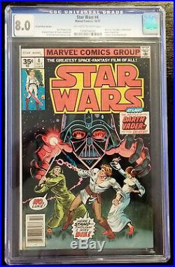 Star Wars #4 Rare 35 Cent Price Variant CGC 8.0 Off-White / White Pgs Marvel 77