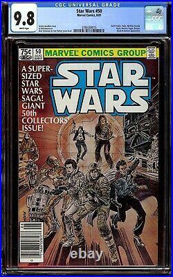 Star Wars #50. CGC 9.8 NM/M. Newsstand. Bossk, Zuckuss, and Dengar appearance