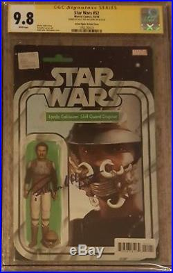 Star Wars #52 Lando Action Figure variant CGC 9.8 SS Signed Billy Dee Williams