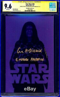 Star Wars #58 PALPATINE EXCLUSIVE VARIANT CGC SS 9.6 signed x2 Ian McDiarmid JTC