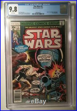 Star Wars #5 (1977 series) CGC 9.8 White Pages New Hope Story! Bronze Age Key