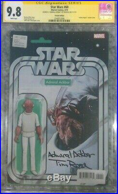 Star Wars #60 action figure variant CGC 9.8 SS Signed Tim Rose Admiral Ackbar