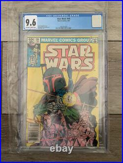 Star Wars #68 Boba Fett CGC 9.6 Newsstand White Pages Marvel Comics 1983