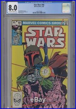 Star Wars #68 CGC 8.0 1983 Marvel Gene Day Comic NEW FRAME KEY Issue