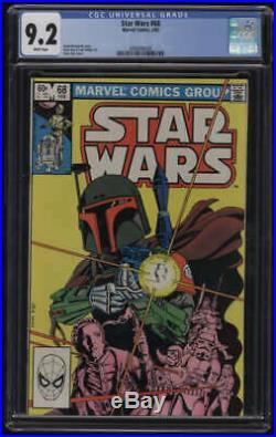 Star Wars #68 CGC 9.2 White Pages Boba Fett Marvel 1983
