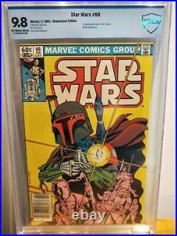 Star Wars #68 Mandalorian Boba Fett Marvel Comics NEWSSTAND 9.8 CBCS not CGC