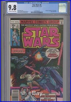 Star Wars #6 CGC 9.8 1977 Movie Adaptation Comic New Frame