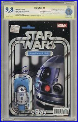 Star Wars #6 R2-D2 Action Figure Variant NOT CGC 9.8 Signed by Kenny Baker